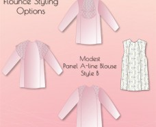 Panel A-line Blouse B Styling Options 1
