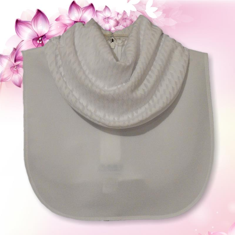 White Textured Cowl Collar Dickey