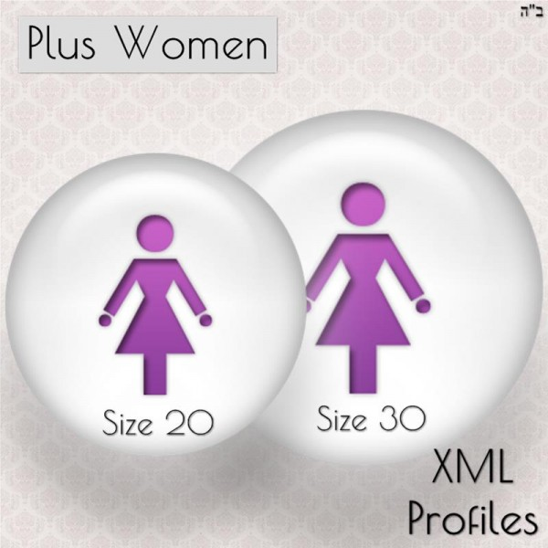Size Charts for Plus Women Size 20-30