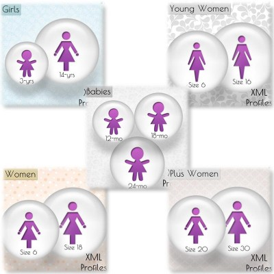 Babies Girls Young Plus Women Size Chart