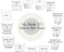 My Sloper Sleeve 3.0 Hem Styles