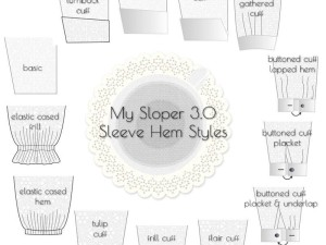 Design Sleeve Pattern with My Sloper Sleeve 3.0