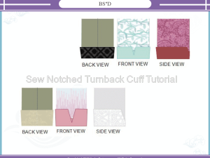 How to Sew the Turnback Notched Sleeve Cuff Tutorial