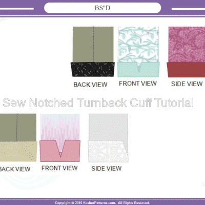 sew notched turnback sleeve cuff