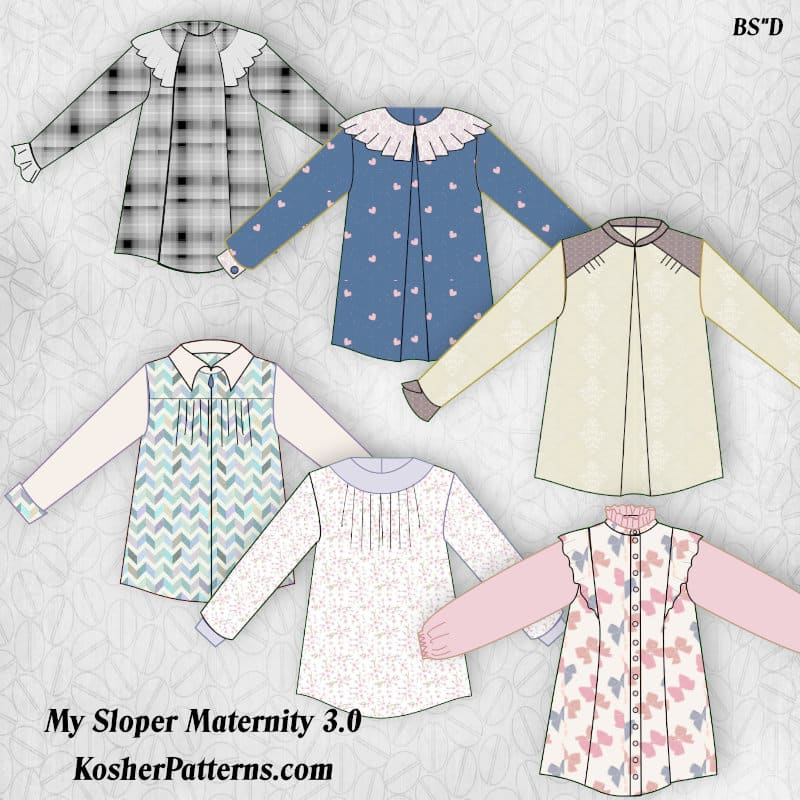 Modest Maternity Sewing Patterns with My Sloper