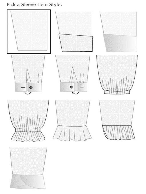 10 Sleeve Hem Styles