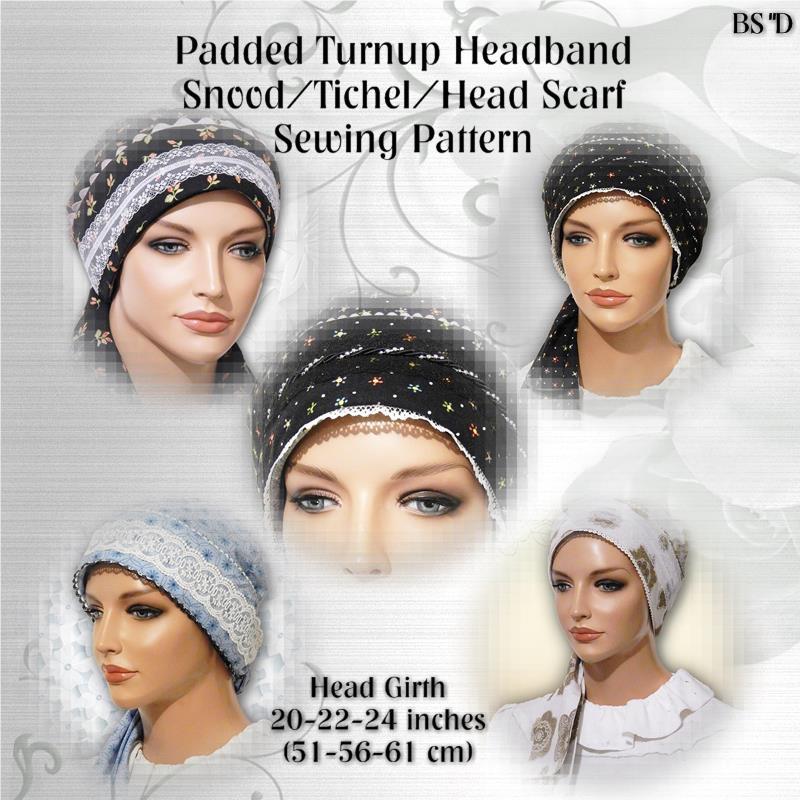 Pretied Head Scarf Sewing Pattern